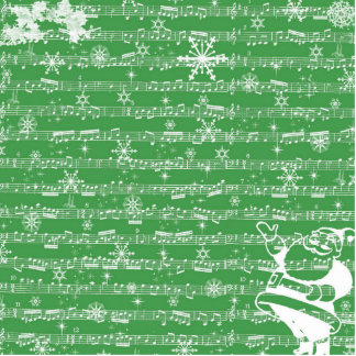 Vintage Green Christmas Musical Sheet Cut Outs