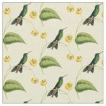 Vintage Green Crowned Brilliant Hummingbird Fabric