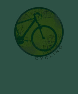 vintage green cycling style t-shirts