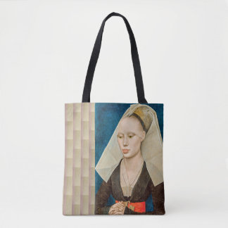 Vintage Green-Eyed Beauty Revisited Tote Bag