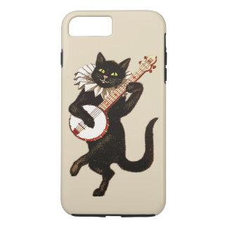 Vintage Green Eyed Black Cat Plays a Red Banjo iPhone 8 Plus/7 Plus Case