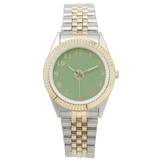 Vintage-Green-II-Golden-Orange_Numbers Watch