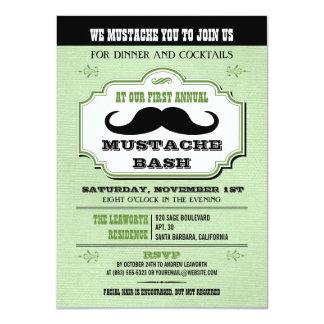 Vintage Green Mustache Bash Card