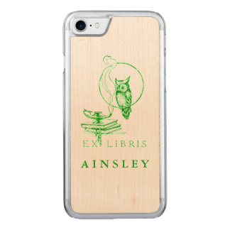 Vintage Green Owl Carved iPhone 7 Case