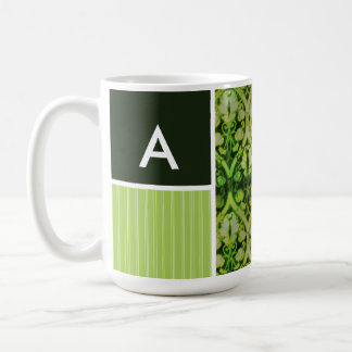 Vintage Green Pattern Coffee Mug