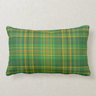 Vintage green plaid St Patrick's Day Celtic pillow