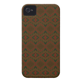 Vintage green, red and brown wallpaper case