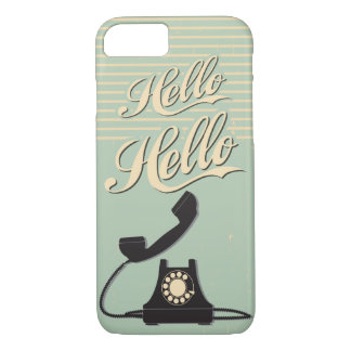 Vintage Green Retro Hello iPhone 7 case