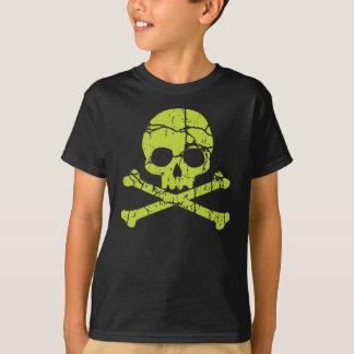 Vintage Green Skull and Crossbones T-Shirt