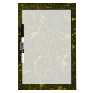 Vintage Green Wallpaper Dry Erase Board