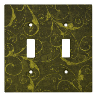 Vintage Green Wallpaper Light Switch Cover