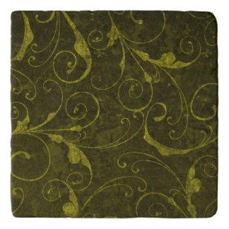 Vintage Green Wallpaper Trivet