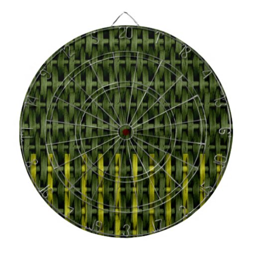 Vintage green wicker art graphic design 2 dartboard