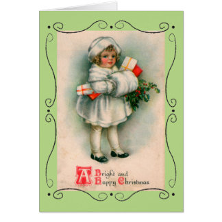 "Vintage Greeting Card ""Happy Christmas"""