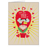 Vintage Greeting Card Valentine will you Bee mine