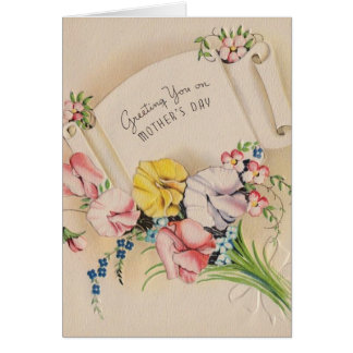 Vintage - Greeting You on Mother's Day, Card