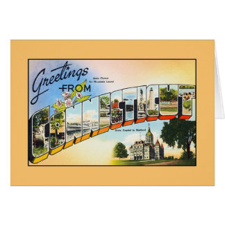 Vintage greetings from Connecticut Card