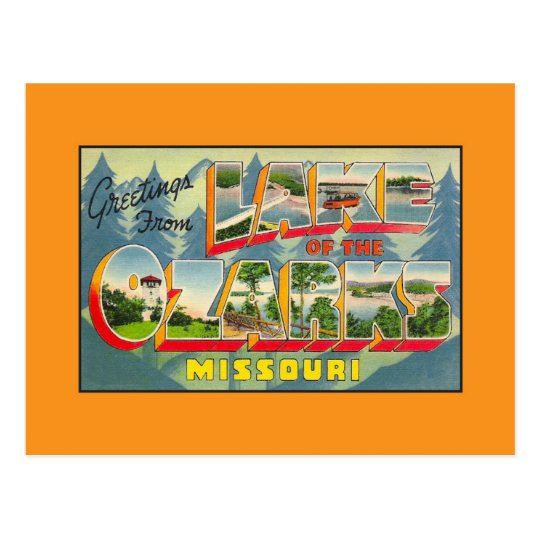 Vintage greetings from Lake of the Ozarks MO Postcard