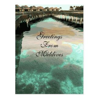 Vintage Greetings From Maldives Islands Custom Postcard