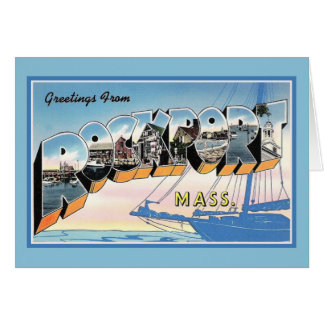 Vintage Greetings from Rockport Massachusetts Card