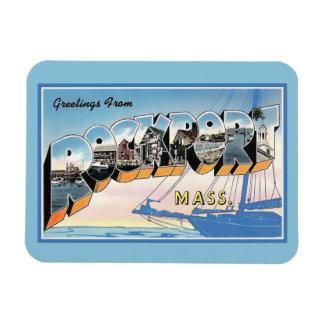 Vintage Greetings from Rockport Massachusetts Magnet
