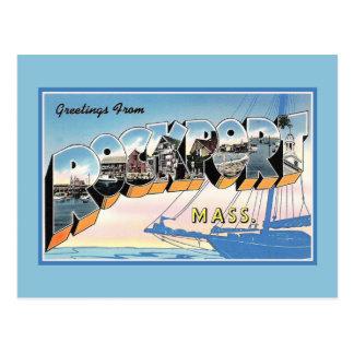 Vintage Greetings from Rockport Massachusetts Postcard