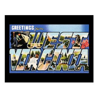 Vintage Greetings from West Virginia Postcard