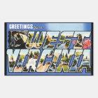 Vintage Greetings from West Virginia Sticker
