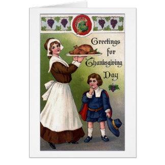 Vintage - Greetings on Thanksgiving, Card