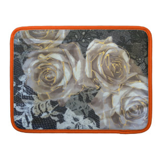 "Vintage grey and gold roses Macbook Pro 13"" Sleeve For MacBooks"