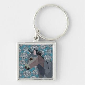 Vintage Grey s Donkey Keychain