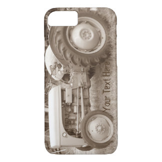 Vintage Grey tractor retro photograph iPhone 8/7 Case