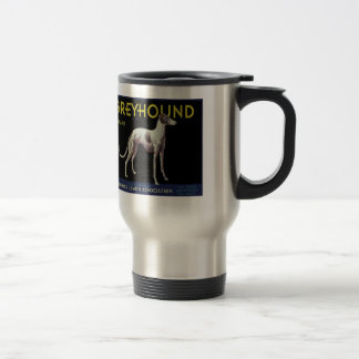 Vintage Greyhound Dog Lemon Label Circa 1920 15 Oz Stainless Steel Travel Mug