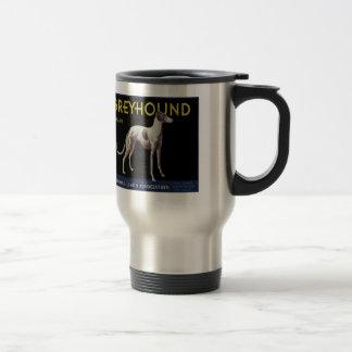 Vintage Greyhound Dog Lemon Label Circa 1920 Travel Mug