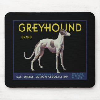 Vintage Greyhound Lemon Label Circa 1920 Mouse Pad