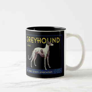 Vintage Greyhound Lemon Label Circa 1920 Two-Tone Coffee Mug