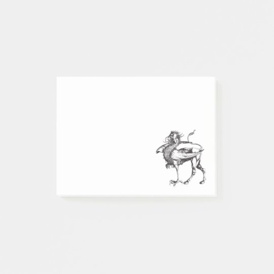 Vintage Griffin Illustration Post-it Notes