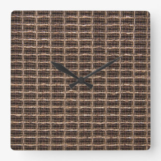 Vintage grill cloth square wall clock