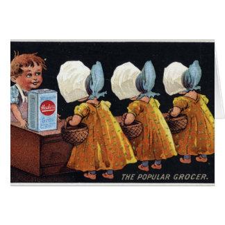 Vintage Groceries Card