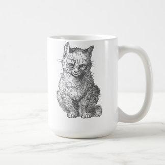 Vintage Grumpy Cat Design Classic White Coffee Mug
