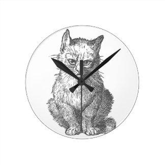 Vintage Grumpy Cat Design Clock