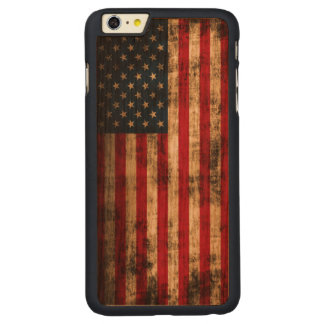Vintage Grunge American Flag Carved® Cherry iPhone 6 Plus Case