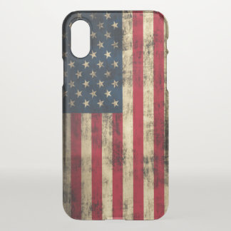 Vintage Grunge American Flag iPhone X Case
