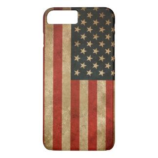 Vintage Grunge American Flag - USA Patriotic iPhone 7 Plus Case