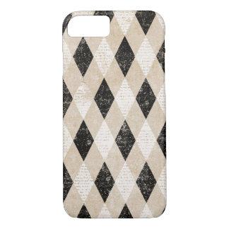 Vintage Grunge Argyle Pattern iPhone 7 Case