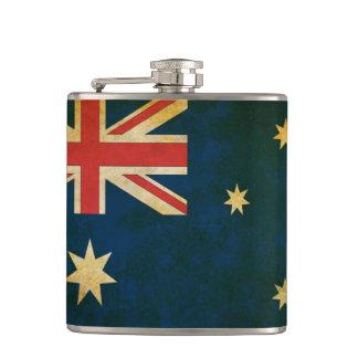 Vintage Grunge Australia Flag Hip Flask