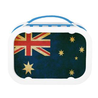 Vintage Grunge Australia Flag Lunch Box