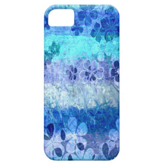 Vintage grunge blue floral pattern 3 iPhone 5 case