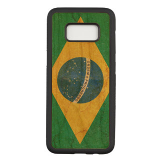 Vintage Grunge Brazil Flag Carved Samsung Galaxy S8 Case