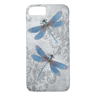 Vintage Grunge Damask Dragonflies iPhone 8/7 Case
